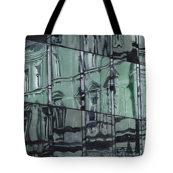 Reflection On Modern Architecture Tote Bag