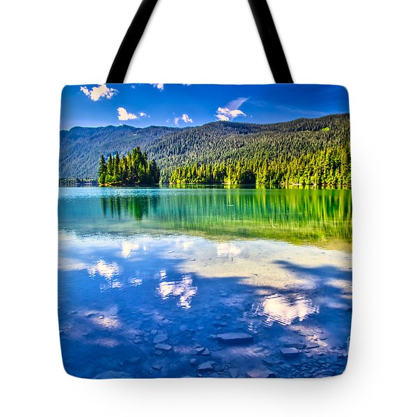 Reflections In Packwood Lake Tote Bag
