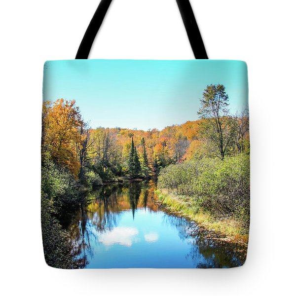 Reflections Of Fall In Wisconsin Tote Bag
