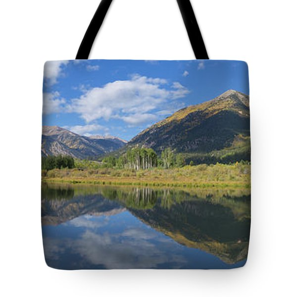 Reflections Of The Sawatch Range In The Autumn Tote Bag
