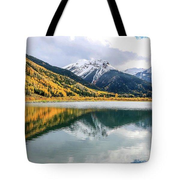 Reflections On Crystal Lake 1 Tote Bag