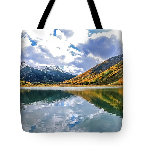 Reflections On Crystal Lake 2 Tote Bag