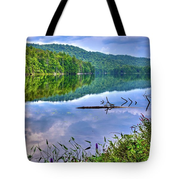 Tote Bag featuring the photograph Reflections On Sis Lake by David Patterson