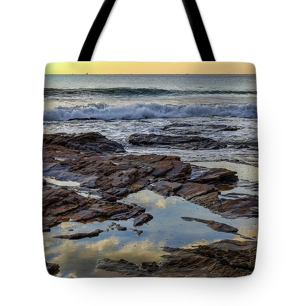 Reflections On The Rocks Tote Bag