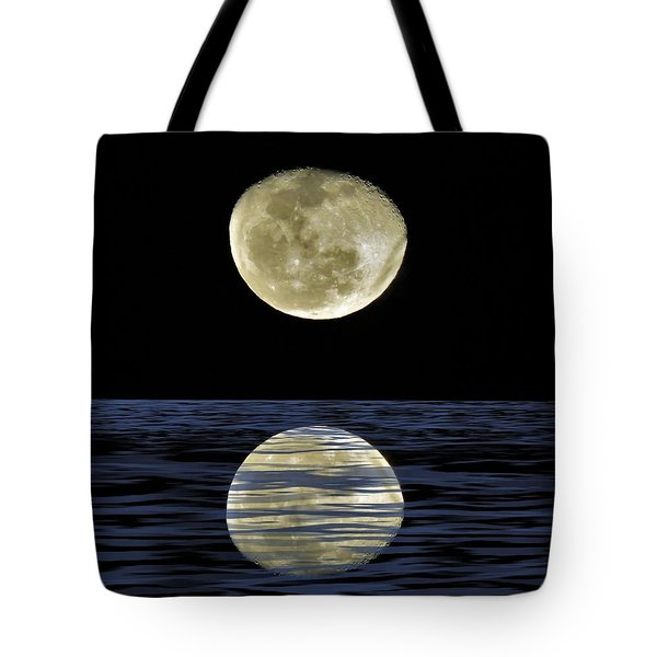 Reflective Moon Tote Bag