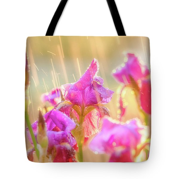 Tote Bag featuring the photograph Refreshing Spring Rain by Leland D Howard