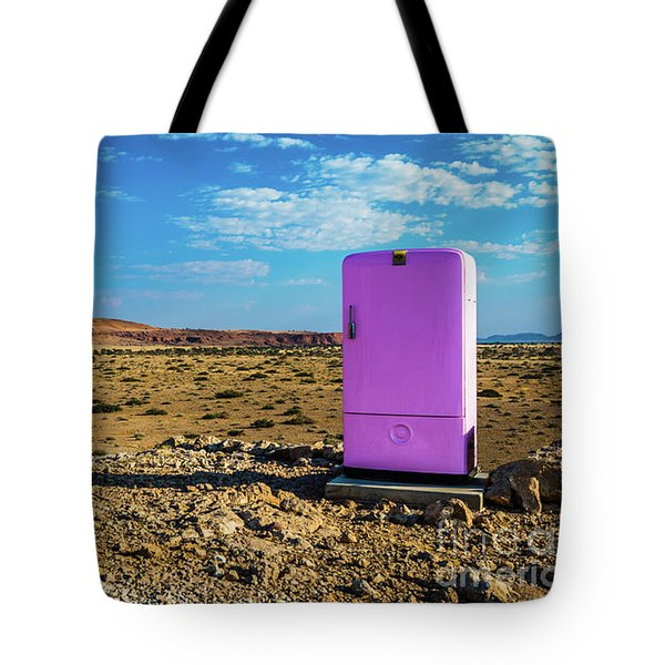 Refreshments Pit Stop In The Middle Of Nowhere Tote Bag