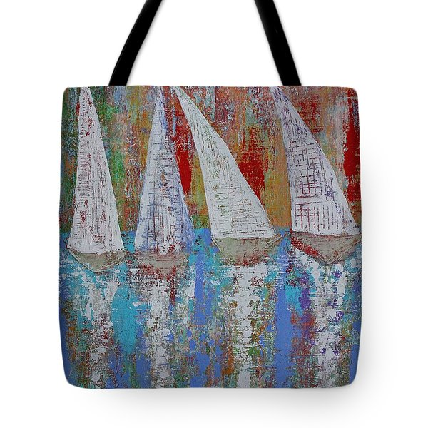 Regatta Original Painting Tote Bag