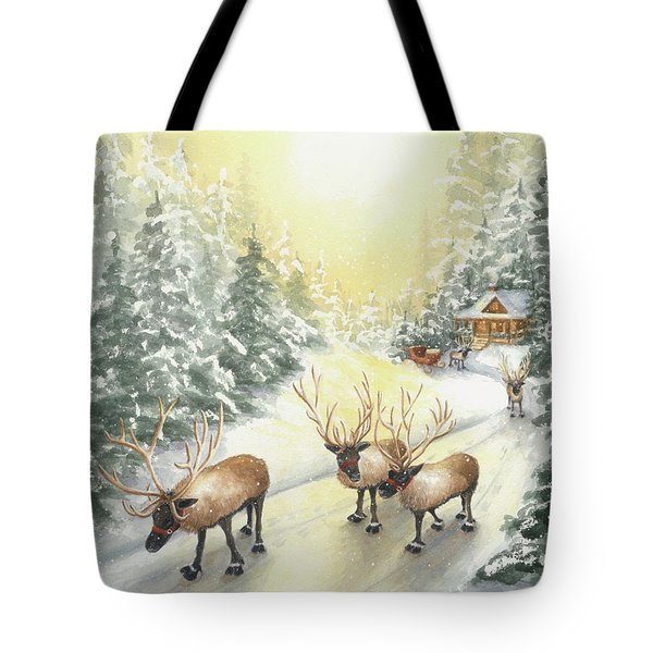 Hoofing It Under The Midnight Sun Tote Bag