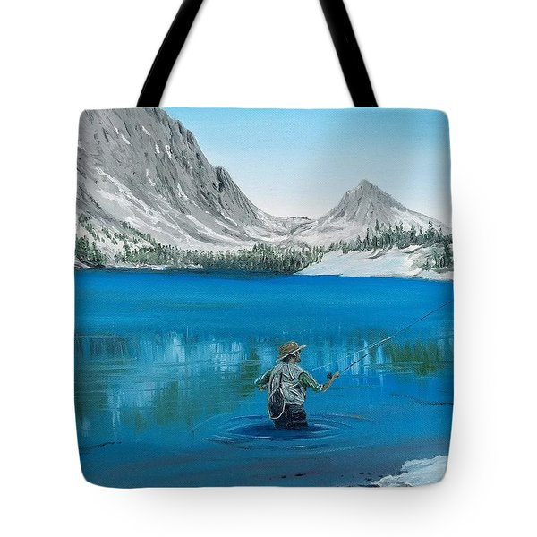 Tote Bag featuring the painting Relaxing At Skelton by Kevin Daly