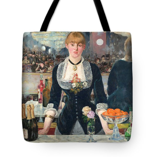 Remastered Art A Bar At The Den Folies Bergere By Edouard Manet 20190309 Tote Bag