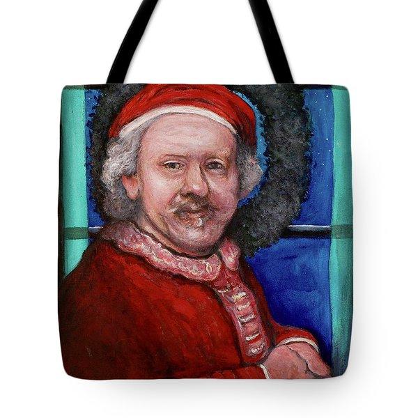 Rembrandt Santa Tote Bag