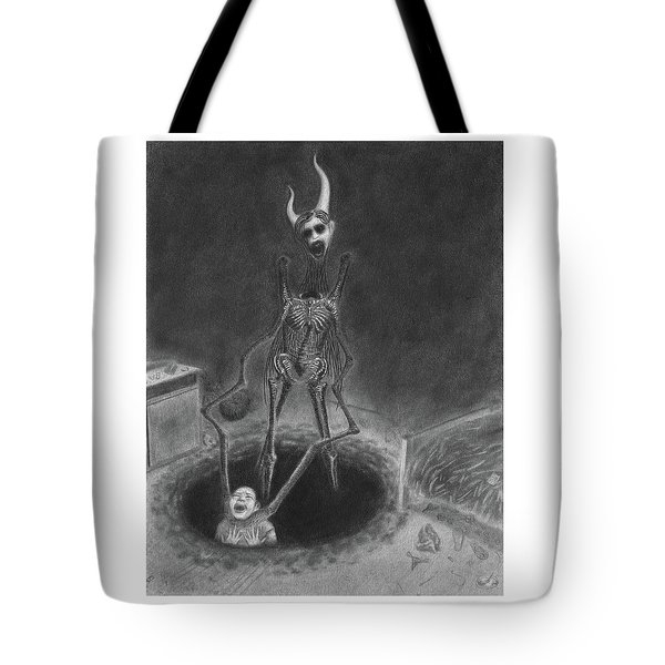 Tote Bag featuring the drawing Resolution - Artwork by Ryan Nieves
