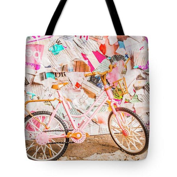 Retro City Cycle Tote Bag