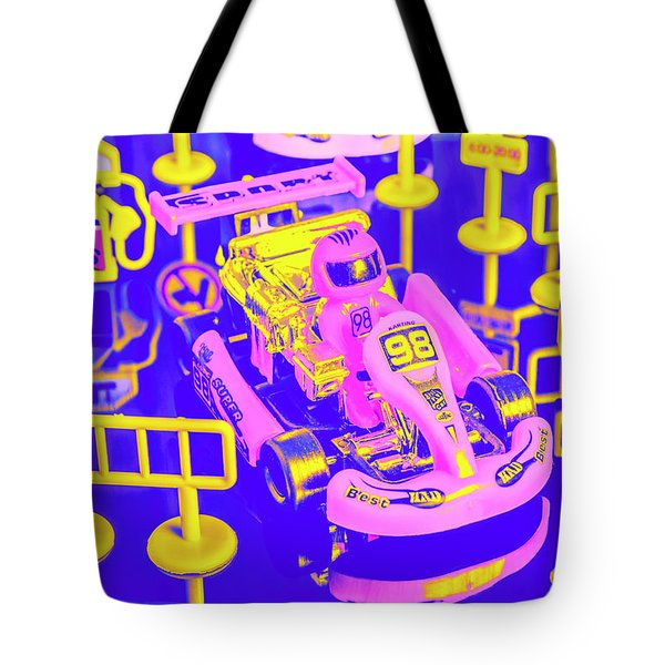 Retro Race Day Tote Bag