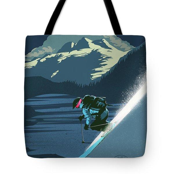 Retro Revelstoke Ski Poster Tote Bag