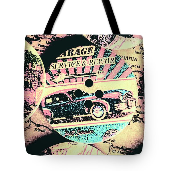 Retro Roadvival Tote Bag
