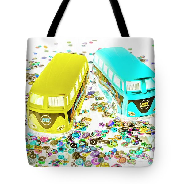 Retro Touring Tote Bag