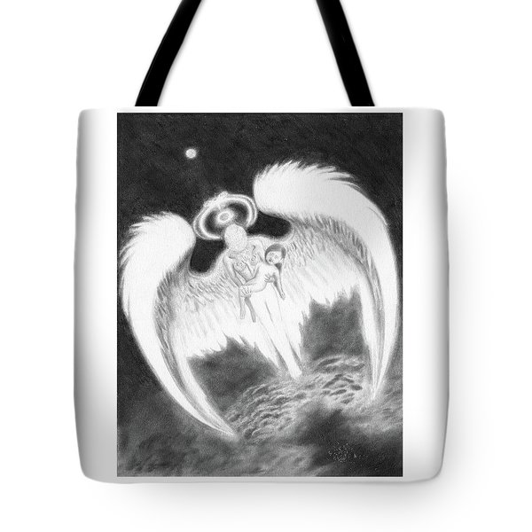Tote Bag featuring the drawing Reunited - Artwork  by Ryan Nieves