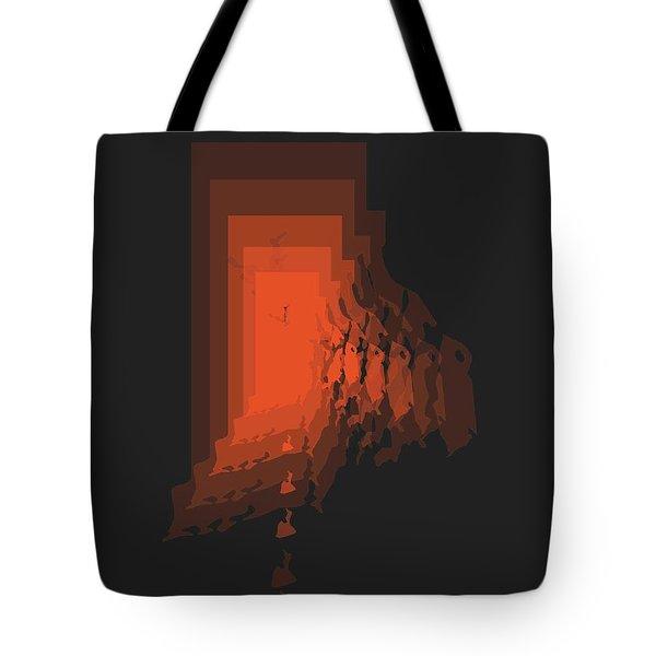 Rhode Island Map Orange Tote Bag