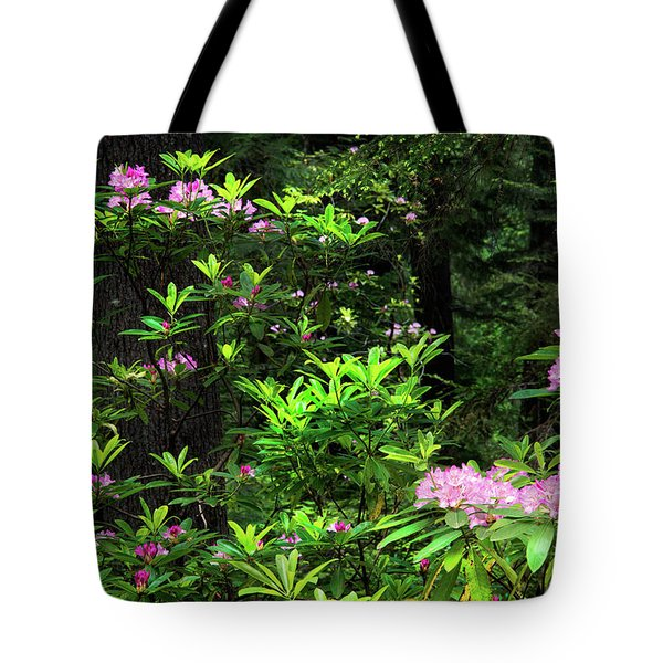 Tote Bag featuring the photograph Rhododendron Contrast by Leland D Howard