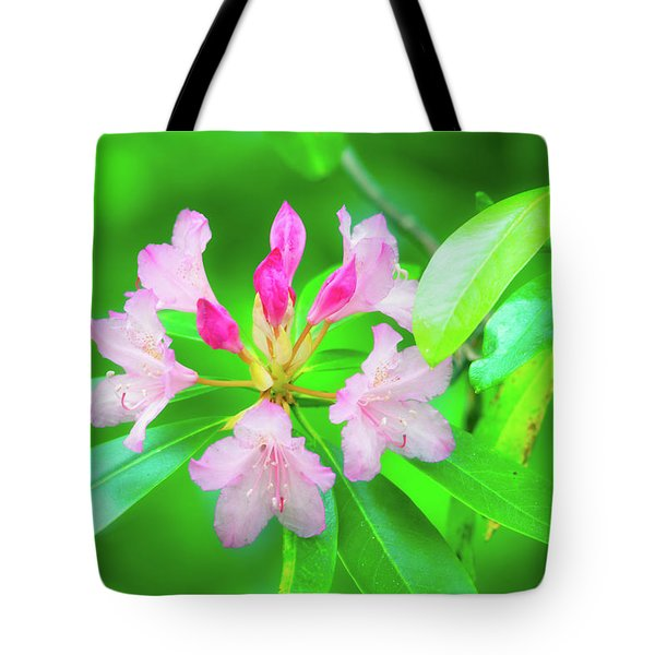 Tote Bag featuring the photograph Rhododendron by Leland D Howard