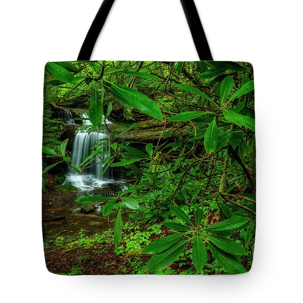 Rhododendron Waterfall Tote Bag