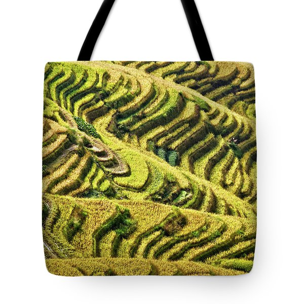 Rice Terraces In China Tote Bag