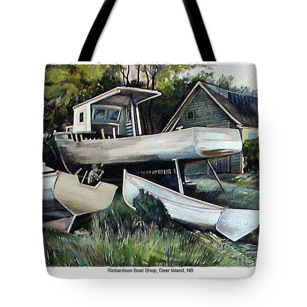 Richardson Boat Shop Tote Bag