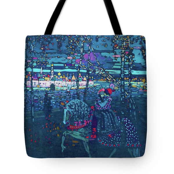 Riding Couple - Digital Remastered Edition Tote Bag