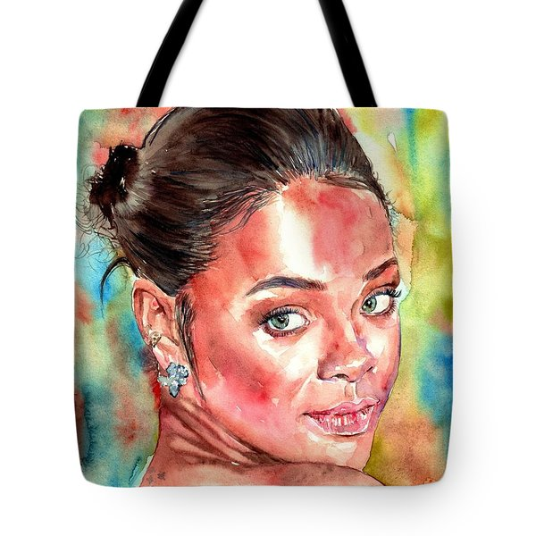 Rihanna Portrait Tote Bag