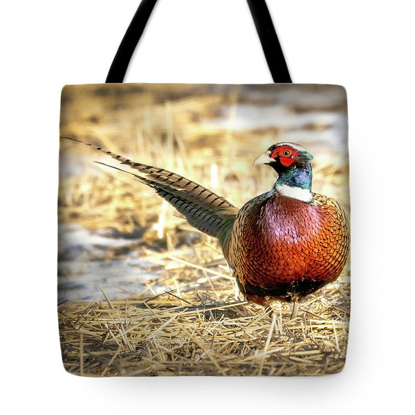 Ring-necked Pheasant Portrait Tote Bag