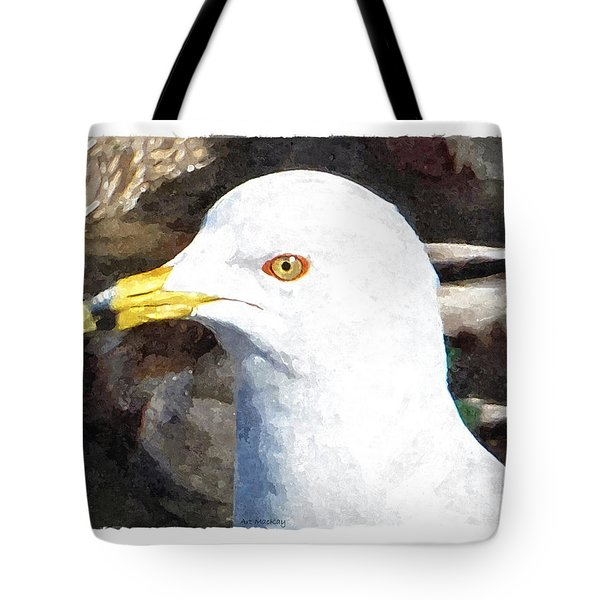 Ringbilled Gull Portrait Tote Bag