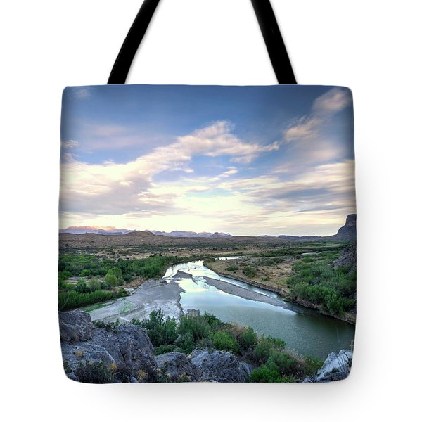 Tote Bag featuring the photograph Rio Grand River by Joe Sparks