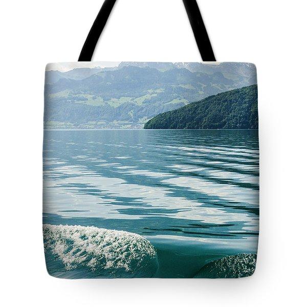 Ripples On Lake Lucerne Tote Bag