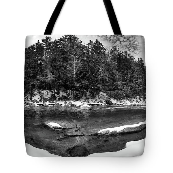 Tote Bag featuring the photograph River Bend, Rocky Gorge 2 N H by Michael Hubley