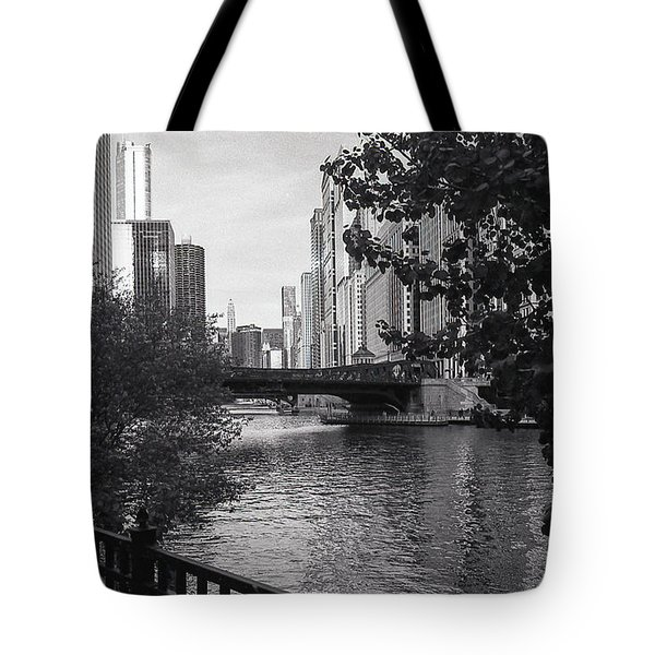 River Fence Tote Bag