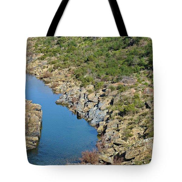 River On The Rocks. Color Version Tote Bag
