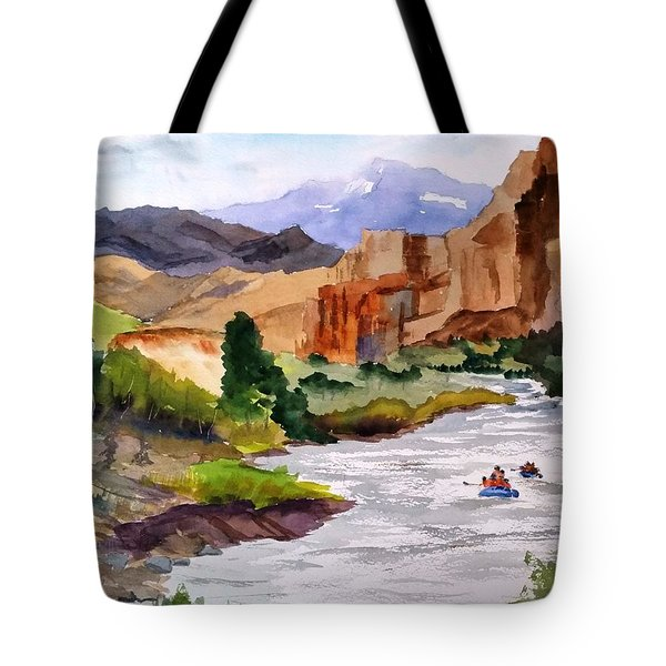 River Rafting In Montana Tote Bag