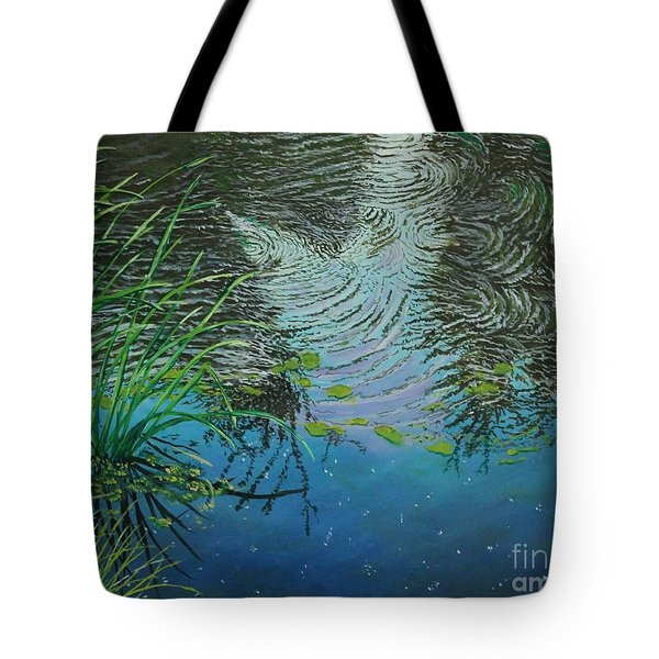 River ...ripples And Reeds Tote Bag