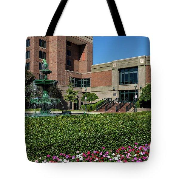 Riverwalk Augusta Ga Fountain Tote Bag