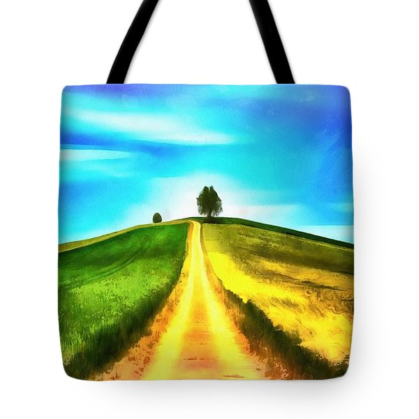 Tote Bag featuring the painting Road Of Life by Harry Warrick