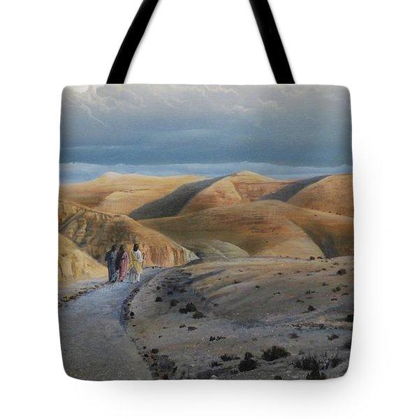 Road To Emmaus Tote Bag