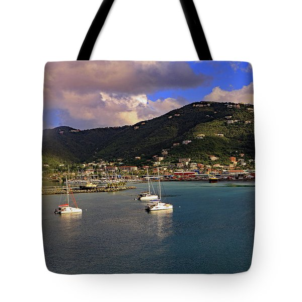 Tote Bag featuring the photograph Road Town  by Tony Murtagh