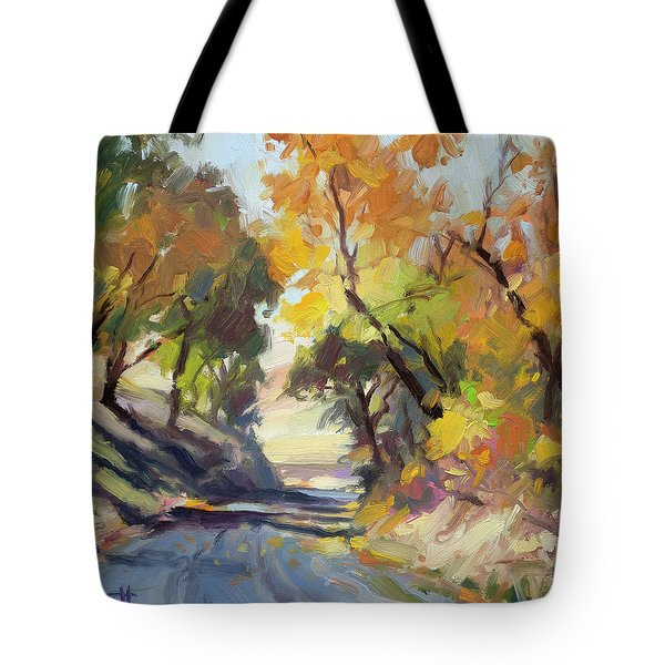 Tote Bag featuring the painting Roadside Attraction by Steve Henderson