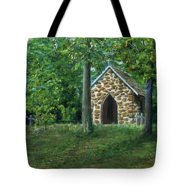 Rock Chapel Near Mansfield, Louisiana Tote Bag
