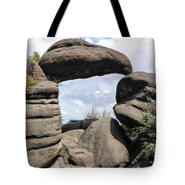 Rock Gate In The Nature Reserve Broumov Walls Tote Bag