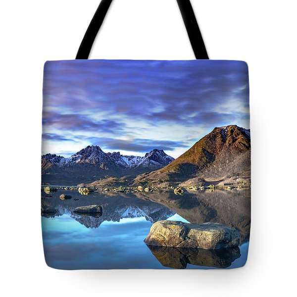 Rock Reflection Landscape Tote Bag