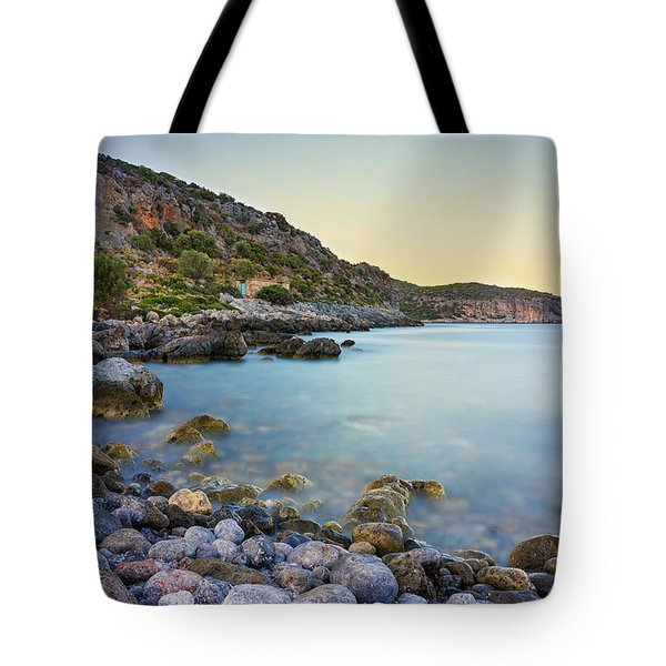 Tote Bag featuring the photograph Rocky Coast Near Monemvasia by Milan Ljubisavljevic