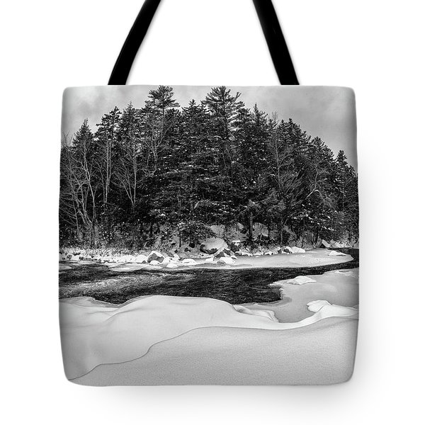 Tote Bag featuring the photograph Rocky Gorge N H, River Bend 1 by Michael Hubley